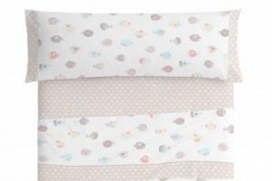 Juego de sábanas infantil algodón 010 Beige de Burrito Blanco