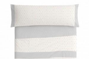 Juego de sábanas infantil algodón 012 Multicolor de Burrito Blanco