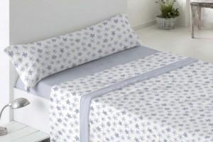 Juego de sábanas de coralina 963 azul muy suave y cálido de Burrito Blanco