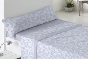 Juego de sábanas de coralina 964 azul muy suave y cálido de Burrito Blanco