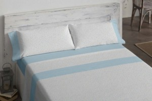 Juego de sábanas 508 Azul de Burrito Blanco
