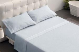 Juego de sábanas 027 Azul de Burrito Blanco