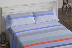 Juego de sábanas 119 Azul de Burrito Blanco