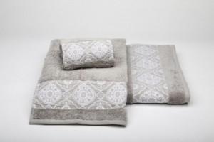 Juego de toallas gris 190