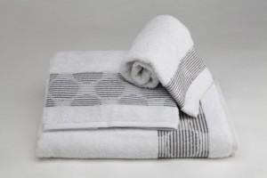 Juego de toallas de fantasía Blanco 164