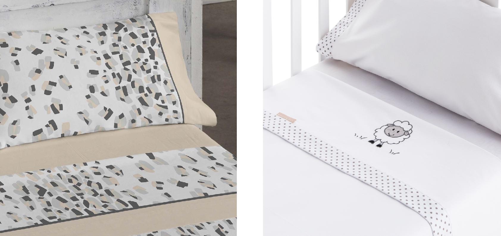 Color rosa La base de datos caballo de fuerza  Ropa de cama para practicar el colecho: juegos de sábanas de algodón 100%